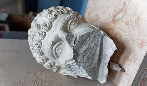 Download our free 3D model kit of a statue from Palmyra's Museum